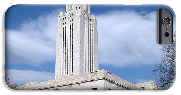 Nebraska iPhone Cases - Capitol Building of Nebraska. iPhone Case by Mountain Dreams