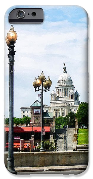 Capitol Building Seen from Waterplace Park iPhone Case by Susan Savad