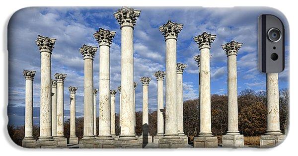 D.c. iPhone Cases - Capitol Columns - Washington D.C. iPhone Case by Brendan Reals