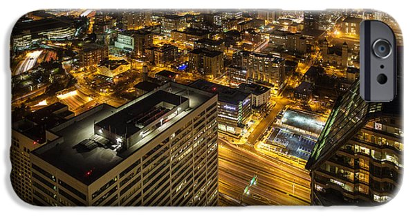 Capitol Hill iPhone Cases - Capitol Hill Night View iPhone Case by Mike Reid