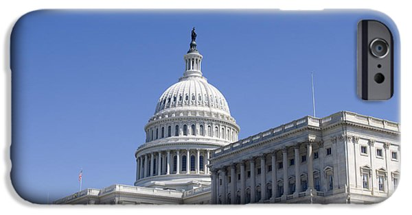 Freedom iPhone Cases - Capitol in Washington DC  iPhone Case by Patricia Hofmeester