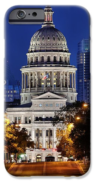 Capitol iPhone Cases - Capitol of Texas iPhone Case by Silvio Ligutti