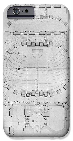 D.c. iPhone Cases - Capitol: Plan, 1804 iPhone Case by Granger