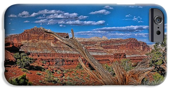 Sand Castles iPhone Cases - Capitol Reef National Park iPhone Case by Allen Beatty