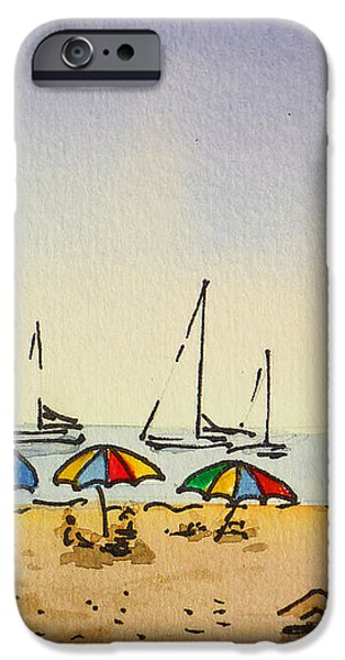 Capitola - California Sketchbook Project  iPhone Case by Irina Sztukowski