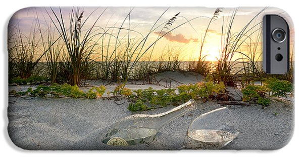 Vineyard Art iPhone Cases - Captiva  Sunset iPhone Case by Jon Neidert
