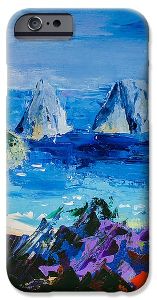 Culture Paintings iPhone Cases - Capri Colors iPhone Case by Elise Palmigiani