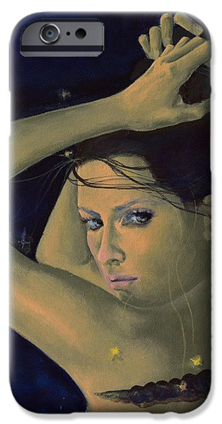 Capricorn from Zodiac series iPhone Case by Dorina  Costras