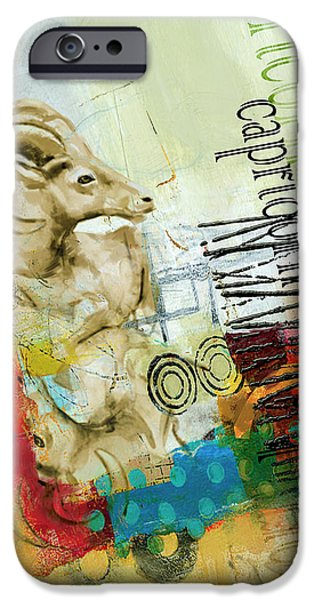 Esoteric iPhone Cases - Capricorn Star iPhone Case by Corporate Art Task Force