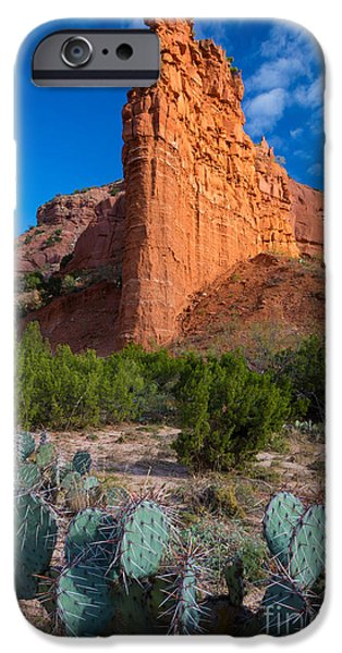 Pears iPhone Cases - Caprock Canyon Wall iPhone Case by Inge Johnsson