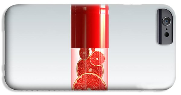 Sectioned iPhone Cases - Capsule with citrus fruit iPhone Case by Johan Swanepoel