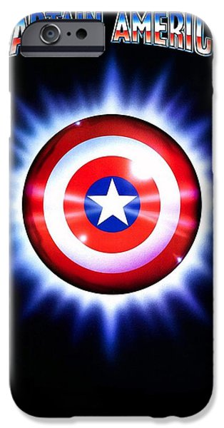 1990 iPhone Cases - Captain America  iPhone Case by Movie Poster Prints