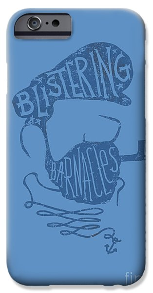 Quotation iPhone Cases - Captain Haddock iPhone Case by Budi Kwan