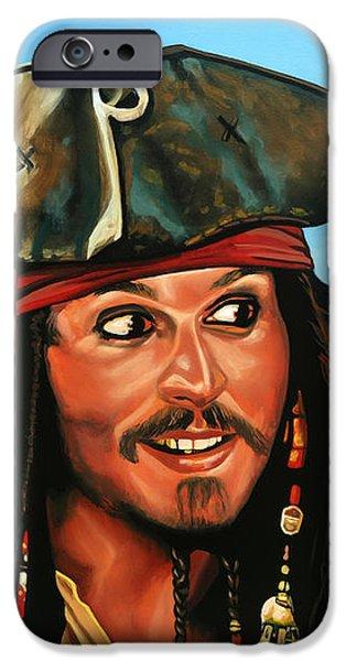 Captain Jack Sparrow iPhone Case by Paul  Meijering
