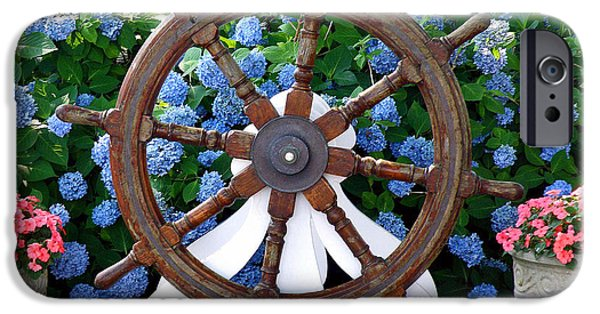 Chatham iPhone Cases - Captains Wheel iPhone Case by Jean Hall