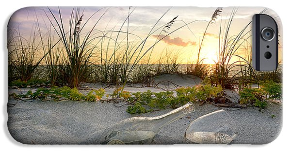 Wine Bottles Photographs iPhone Cases - Captiva Sunset iPhone Case by Jon Neidert
