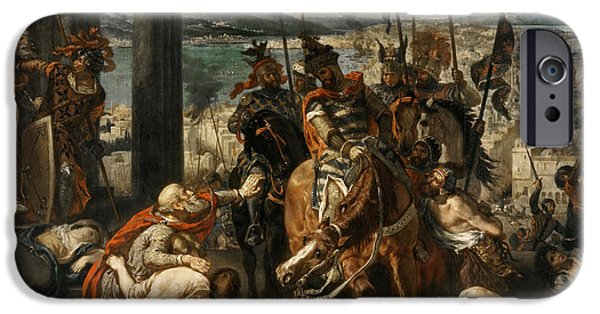 Delacroix iPhone Cases - Capture of Constantinople by the Crusaders iPhone Case by Celestial Images