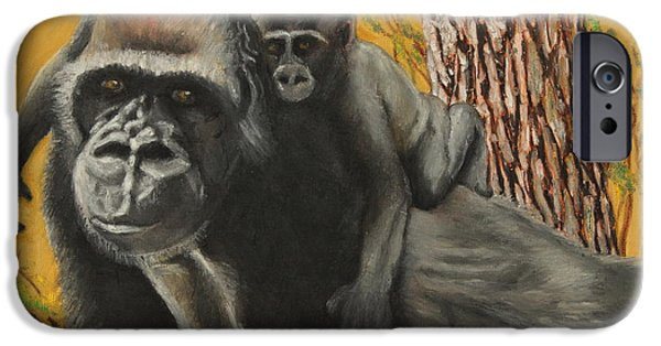 Wild Animals Pastels iPhone Cases - Captured Bernigie iPhone Case by Jeanne Fischer
