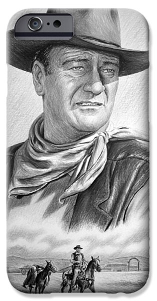 Celebrity Drawings iPhone Cases - Captured bw version no2 iPhone Case by Andrew Read