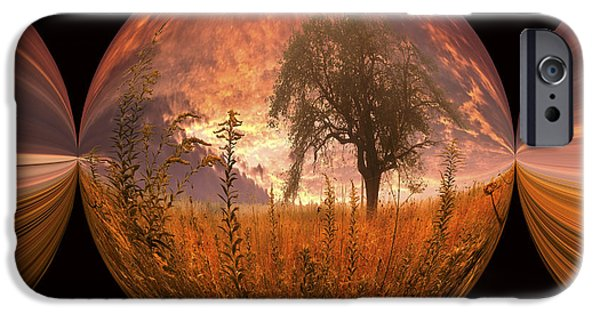 Smokey Mountains iPhone Cases - Captured Flame iPhone Case by Debra and Dave Vanderlaan