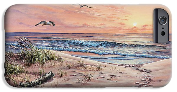 Sea Oats iPhone Cases - Captured in the Morning Light iPhone Case by Joe Mandrick