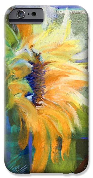 Orange Pastels iPhone Cases - Captured Sunlight iPhone Case by Tracy L Teeter