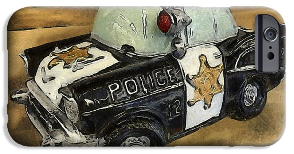 Police Patrol Law Enforcement iPhone Cases - Car 12 Where Are You iPhone Case by Barbara Snyder