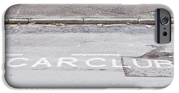 Asphalt iPhone Cases - Car club parking iPhone Case by Tom Gowanlock