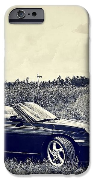 The 2002 Porsche Boxster S Car iPhone Case by Carol  Lux Photography