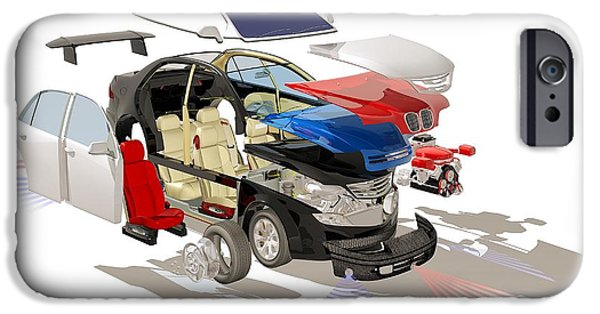 Automotive iPhone Cases - Car Parts, Artwork iPhone Case by Hans-ulrich Osterwalder