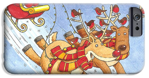 Christmas Eve iPhone Cases - Car Sharing iPhone Case by Peter Adderley