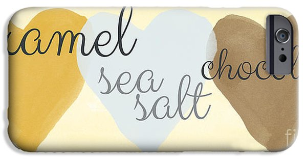Sea Mixed Media iPhone Cases - Caramel Sea Salt and Chocolate iPhone Case by Linda Woods