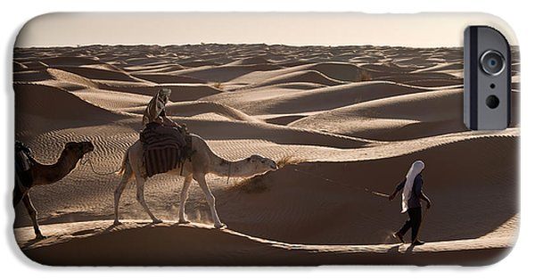 Camel Photographs iPhone Cases - Caravan iPhone Case by Delphimages Photo Creations