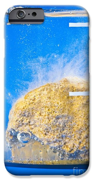 Carbonate-acid Reaction iPhone Case by Martyn F. Chillmaid