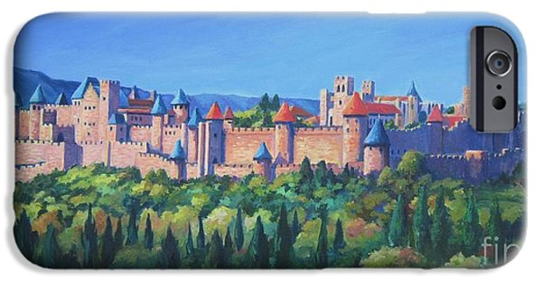 Languedoc iPhone Cases - Carcassone   iPhone Case by John Clark