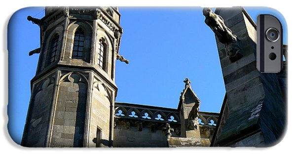 Cathar Country iPhone Cases - Carcassonnes Cathedral iPhone Case by France  Art