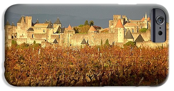 Cathar Country iPhone Cases - Carcassonne in Fall iPhone Case by France  Art