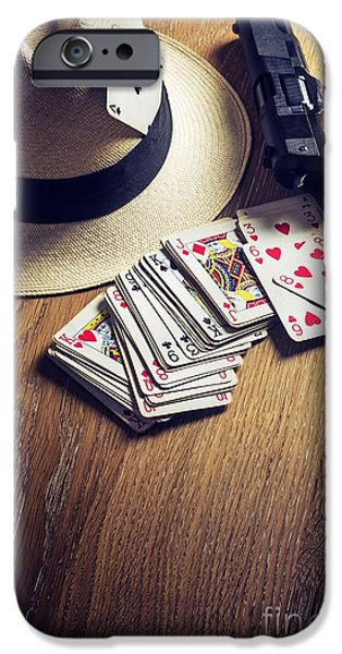 Chance iPhone Cases - Card Gambling iPhone Case by Carlos Caetano