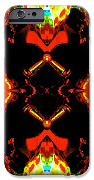Socal Mixed Media iPhone Cases - Cardiac Arrest iPhone Case by Romy Galicia