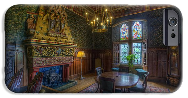 Dining Hall iPhone Cases - Cardiff Castle Apartment Dining Room iPhone Case by Yhun Suarez
