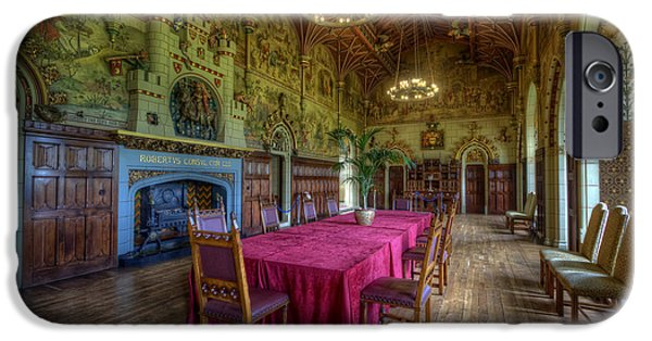 Dining Hall iPhone Cases - Cardiff Castle Dining Hall iPhone Case by Yhun Suarez