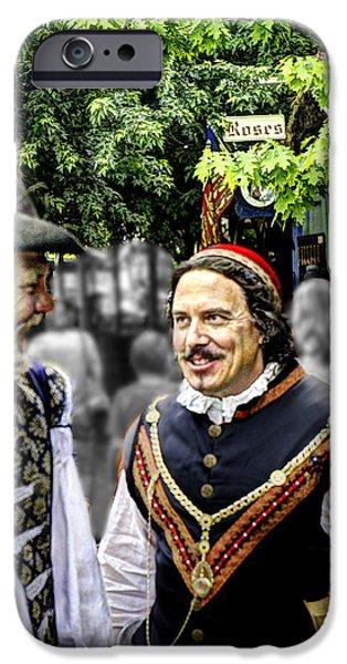 Politician iPhone Cases - Cardinal Richelieu with DArtagnan  iPhone Case by John Straton