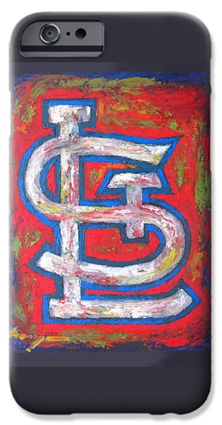 Baseball iPhone Cases - St Louis CARDINALS Baseball iPhone Case by Dan Haraga