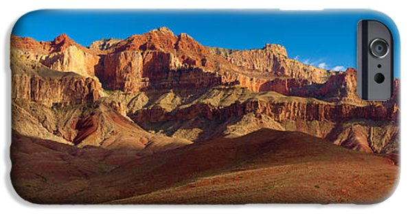 Grand Canyon iPhone Cases - Cardines Panorama iPhone Case by Inge Johnsson