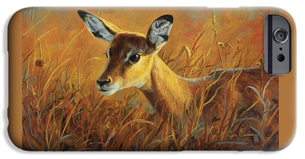African Wildlife iPhone Cases - Careful iPhone Case by Lucie Bilodeau