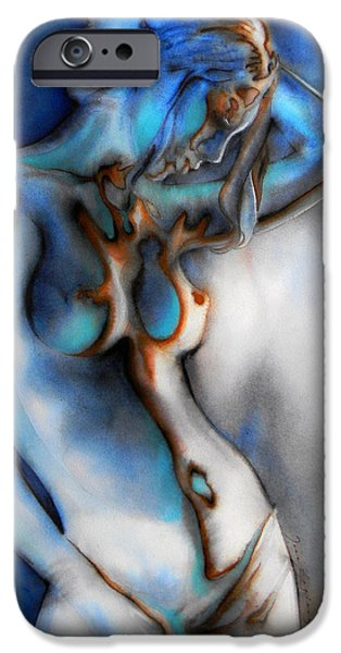 Vibrant Colors Drawings iPhone Cases - Caress Of Light  I iPhone Case by Jose Espinoza