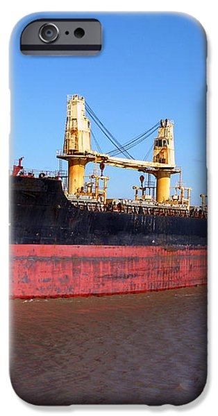 Cargo Ship iPhone Case by Olivier Le Queinec