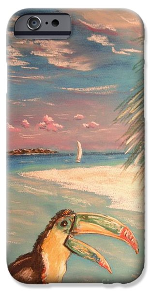 Beach Landscape Pastels iPhone Cases - Caribbean Afternoon iPhone Case by The Beach  Dreamer