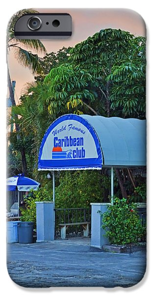 Caribbean Club Key Largo iPhone Case by Chris Thaxter