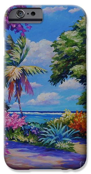 Hibiscus iPhone Cases - Caribbean Colours iPhone Case by John Clark